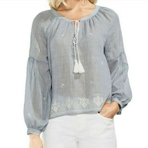 New With Tags! Vince Camuto ZenBloom Peasant Top